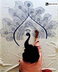 All products are customized and hand painted. Contact: Vaibhavi Gandhi – 9924107418, 9637358690  Nishant Gandhi – 9723143496, 9637358698 #Art #Design #RoganDesigns #HandPaints #Textiles #CityShorSurat