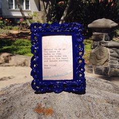 Iliad Quote Made With Typewriter in Vintage-Style Frame on Etsy, $12.00