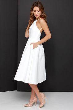 Lead a Charmed Life Ivory Midi Dress at Lulus.com! $58