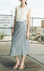 Hand Treated Japanese Stripe Wrap Skirt by Sea | Moda Operandi