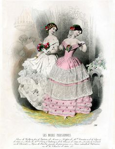 Vintage French Fashion Plate!