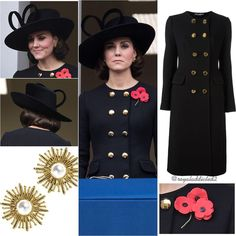 "1,309 mentions J'aime, 19 commentaires - Royal Addicted (@royaladdicted2) sur Instagram : ""Duchess of Cambridge Style! Coat: Dolce & Gabbana; Hat: Philip Treacy; Jewels: Oscar de la Renta…"""