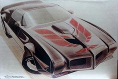 Trans-Am rendering of the puking chicken ...