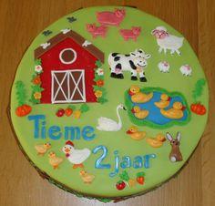 Boerderijtaart voor Tieme zijn 2e verjaardag