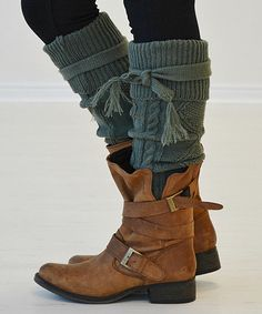 Love this Army Green Cozette Over-the-Knee Socks by PeekABootSocks on #zulily! #zulilyfinds