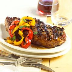 Three-Herb Steaks - Recipe