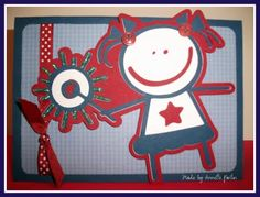 """Cricut """"Car Decals"""" - love the patriotic color scheme! ~ Am"""