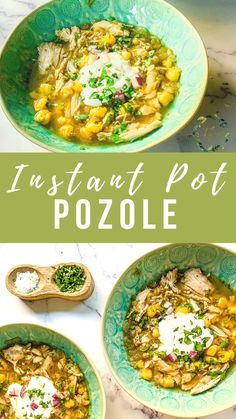 Instant Pot Chicken Posole (Pozole) is a healthy soup that is super easy to make with chicken breasts, thighs, or pork. The Instapot recipe uses all natural ingredients and is ready in only 20 minutes thanks to pressure cooking! Make this family-friendly stew for dinner tonight. #instantpot #pozole #posole #healthysoup #souprecipe #quicksoup #healthyrecipes