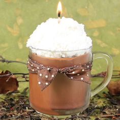 Chai Tea Latte Candle Tutorial - Soap Queenthis would be so cute if hot chocolate scent as well!!