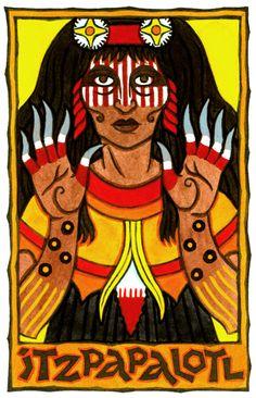 Itzpapalotl, Aztec Goddess of the Sacrificial Flint/Sacrifice the darkness for the sake of the light.