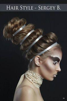 Fashion & Beauty Photographer - Den Kara Hair Stylist-Bacioi Sergiu Make-up… Creative Hairstyles, Unique Hairstyles, Down Hairstyles, Wedding Hairstyles, Bridal Hair And Makeup, Wedding Makeup, Hair Makeup, High Fashion Hair, Fashion Beauty