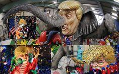 Revancha: Donald Trump, principal bufón de los carnavales 2017 (Vídeos)