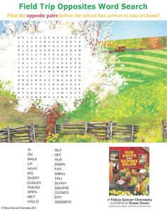 Here's another opposites activity sheet I've created for spring visits!