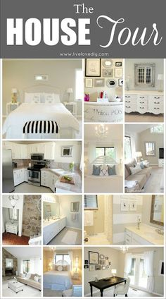 This is a site that shows the before and after in one creative, DIY woman's home.  She decorated her entire 1970 is style home (the kind with textured walls and dark wood trim:) primarily with thrift store finds and paint!  It is an amazingly inspiring transformation! take a look!