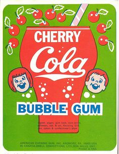 Loving the design and colours from these vintage bubble gum wrappers! When I was young, I remember my mom teaching me how to blow bubbles with my gum. Vintage Packaging, Vintage Branding, Vintage Labels, Vintage Posters, Vintage Signs, Vintage Prints, Retro Advertising, Vintage Advertisements, Advertising History