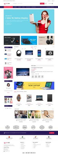 GrayMax - The Multi Shopping Template - Apss Ecommerce Website Design, Website Design Layout, Web Design, Store Design, Computer Theme, Beautiful Website Design, Website Themes, Website Ideas, Photoshop