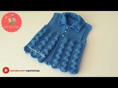 Let's learn together your own fashion accessories, basic and other creative points, techniques and tips to learn or develop the art of crochet and kni. Baby Pullover, Baby Cardigan, Sweater Cardigan, Knitting Videos, Free Knitting, Start Knitting, Knit Vest Pattern, Pull Bebe, Baby Vest