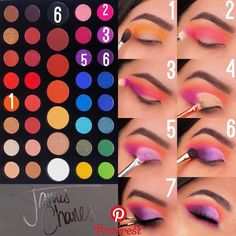 eyeshadow looks using james charles palette \ eyeshadow using james charles palette . eyeshadow looks using james charles palette . eyeshadow looks using the james charles palette . eyeshadow looks step by step using james charles palette Makeup Eye Looks, Eye Makeup Steps, Eye Makeup Art, Colorful Eye Makeup, Cute Makeup, Makeup Inspo, Makeup Ideas, Makeup Inspiration, Easy Makeup
