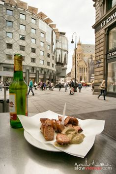 stand close to in where People meet to indulge in all varieties of Austrian SausagesVienna's is the sausage Austria, Slow Travel, Slow Food, Budapest, Travel Inspiration, Sausage, Restaurants, Food And Drink, City