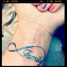 First tattoo. Family is infinite<3 (finally found the tat that show my love  for the ppl who r always there for me )!