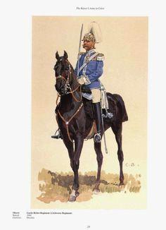 German; 1st Royal Saxon Guards Heavy Cavalry (Garde-Reiter-Regiment (1. Schweres Regiment)). Oberst. Raised 1680. Home Depot Dresden. XII Army Corps