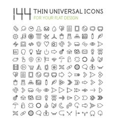 Large collection of thin universal web icon set vector by antishock on VectorStock®