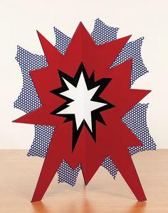Standing Explosion (Red) | Roy Lichtenstein | 1966