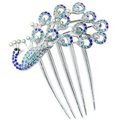 awesome Lovely Vintage Jewelry Crystal Peacock Hair Clips F- for hair clip Beauty Tools