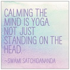 calm the mind…