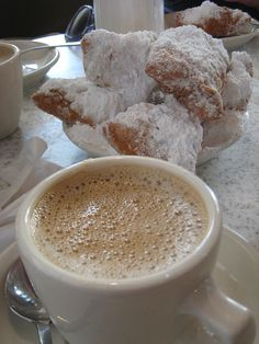 Beignets and Cafe au Lait, no recipe. But it Does Look Good, doesn't it! (1) From: FlickR, please visit