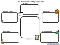 FREE All About Me Safety Organizer | This Reading Mama