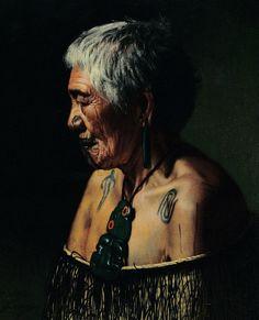 Charles Goldie, Ahinata Te Rangitautini, Tuhourangi tribe, 1903. Charles Goldie Kiwi Painter 1870 AD - 1947 AD Polynesian People, Maori Art, Skin Art, Body Tattoos, Kiwi, Facial, The Past, Dreadlocks, Artists
