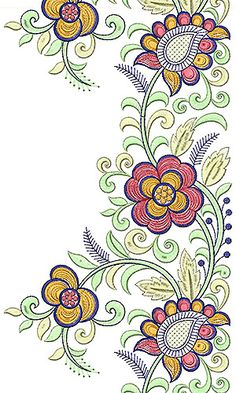 Textile Printed Fabric Type Lace Border Brocade Design
