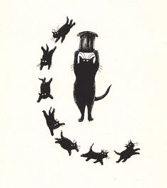 "Edward Gorey illustrated the ""Old Possums Book Of Practical Cats"" for one of the most beautiful poets, T.S Eliot."
