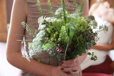 Herbal bridal bouquets