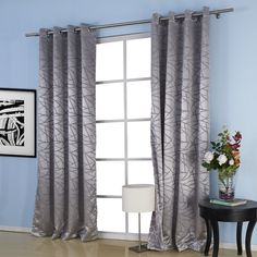 Jacquard Belonging Room Darkening Thermal Curtain  #curtains #decor #homedecor #homeinterior #grey