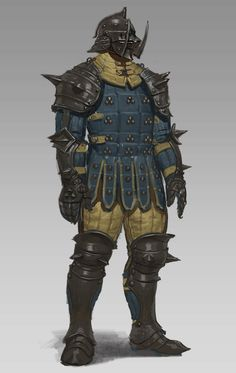 brigandine armor by sueng hoon woo on ArtStation. Dark Fantasy, Fantasy Concept Art, Fantasy Armor, Fantasy Character Design, Character Concept, Character Art, Medieval Armor, Medieval Fantasy, Dnd Characters