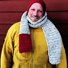 The Farmer John Barn Scarf-- crocheted by the resident farmer at Beekman 1802!