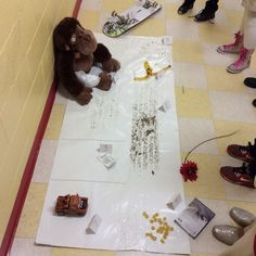 great lesson on making inferences! and then have the students write a narrative about what happened at the crime scene