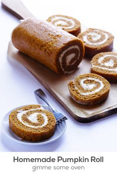 Dan Loves a good Pumpkin Roll! Learn how to make a classic pumpkin roll recipe with cream cheese filling. It's easy, and is always a total crowd-pleaser! Fall Desserts, Just Desserts, Delicious Desserts, Dessert Recipes, Yummy Food, Cake Recipes, Fall Baking, Holiday Baking, Cupcakes