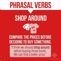 Phrasal Verbs - SHOP AROUND -
