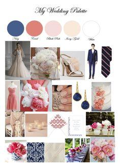navy gold and blush | ... dreams / Lovely. Navy, Coral, Blush Pink, Ivory, Gold wedding palette