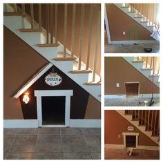 Doghouse under the stairs