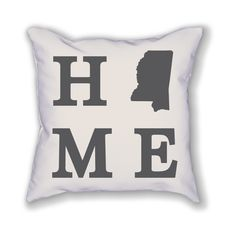 """The Mississippi Home State Pillow is an 18""""x18"""" pillow showing off the place you call home! The pillow is already stuffed and ready to be displayed in your home."""
