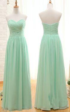 Long Mint Green Bridesmaid Dress