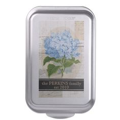 Blue Hydrangea French Personalized Cake Pan