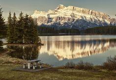 Two Jack Lake Getaway by Jeff Clow, via 500px