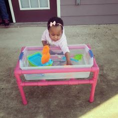 A Southern Bell's Guide to DIY Projects: PVC Pipe Sensory Table