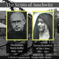 January 27 marks the 71st anniversary of the liberation of #Auschwitz, the largest and most infamous concentration camp built by the Nazis. Among the millions killed were two Catholic saints, St. Maximilian Kolbe, a Polish Franciscan priest, who died there in 1941 by lethal injection, and St. Teresa Benedicta of the Cross (Edith Stein), a convert from Judaism and Carmelite nun, who died there in 1942 in the gas chambers. Today let us ask them to pray with us for those who suffer persecution…