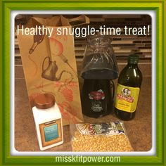 The cold weather is upon us, which may mean a lot more time indoors snuggled up on the couch. To keep a fit focus on the increased indoor time, here's an easy and healthy snack idea for TV and movie watching. Air-popped popcorn with extra virgin olive oil and sea salt.  Directions: Pop the desired amount of popcorn and dump it in the paper bag. Drizzle on some olive oil and sea salt, shake it up and enjoy!